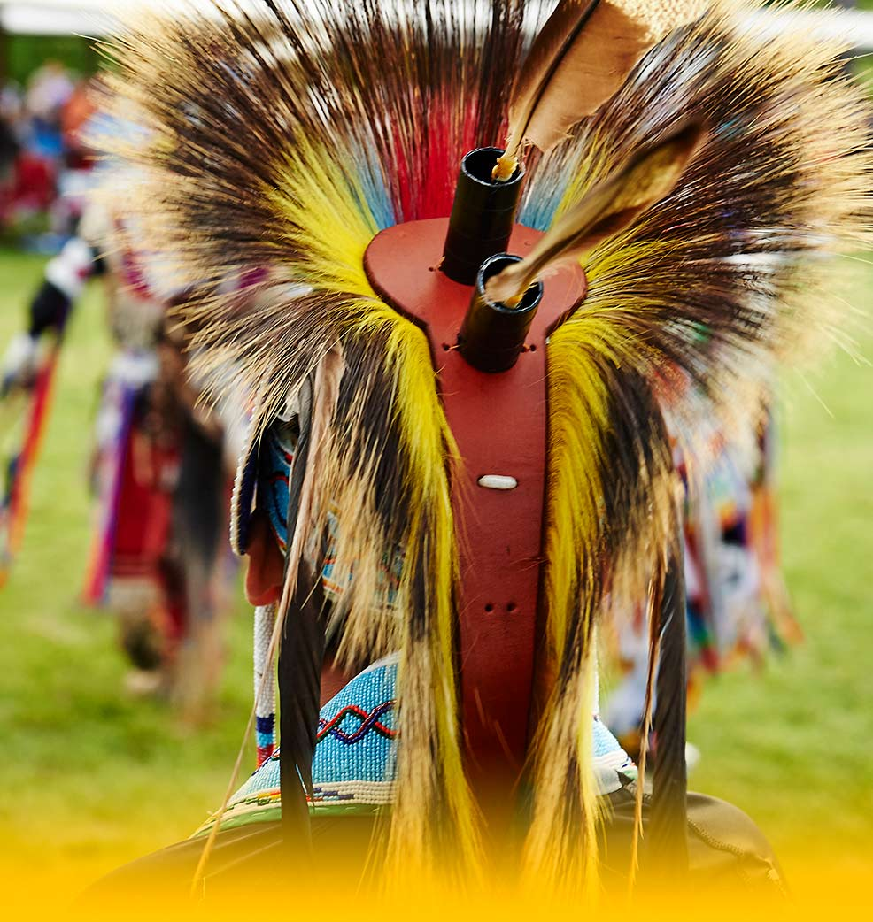 Ceremonial costume at powwow